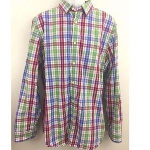 Banana Republic Tailored Slim Fit Plaid Shirt
